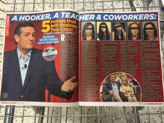 PERV TED CRUZ caught cheating?? lol