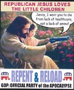 Jesus , Guns, beer and the GOP