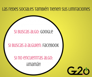 redes sociales también tienen sus limitaciones