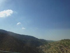 Driving back to Jerusalem from Bethlehem. Gorgeous valleys and hills here.