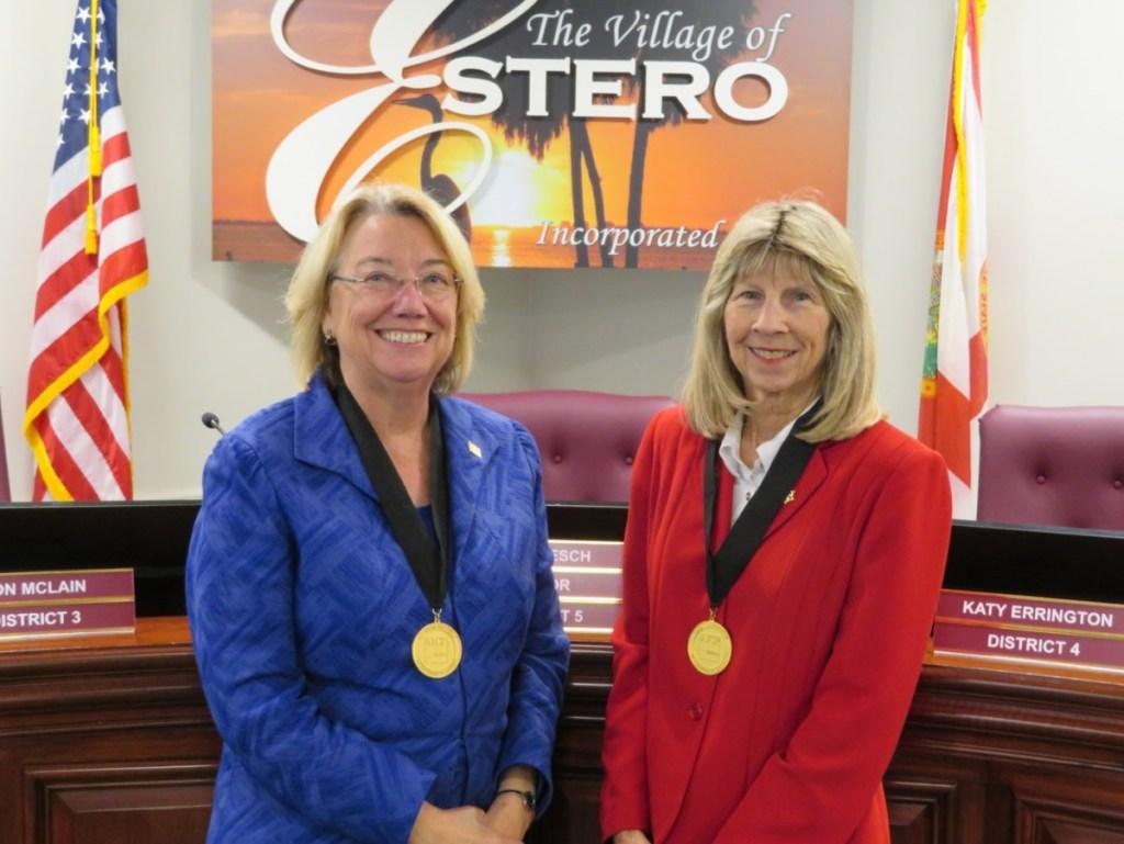 Attorney Nancy Stroud and Community Development Director Mary Gibbs