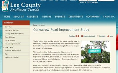 County launches Corkscrew Road Improvement Study webpage
