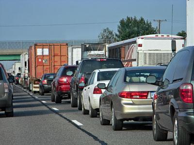 Traffic on East Corkscrew Rd.