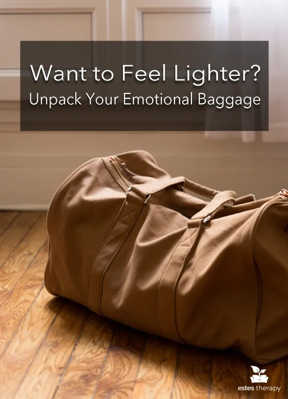 Unpack Your Emotional Baggage and Feel Lighter via @Estes Therapy | Unless you've been in a bubble, you've got a past to deal with and that past jumps into your relationships right along with you. Tired of history repeating itself or taking out your issues on your precious partner? We've got you. #relationshipadvice #trauma #emotionaltriggers