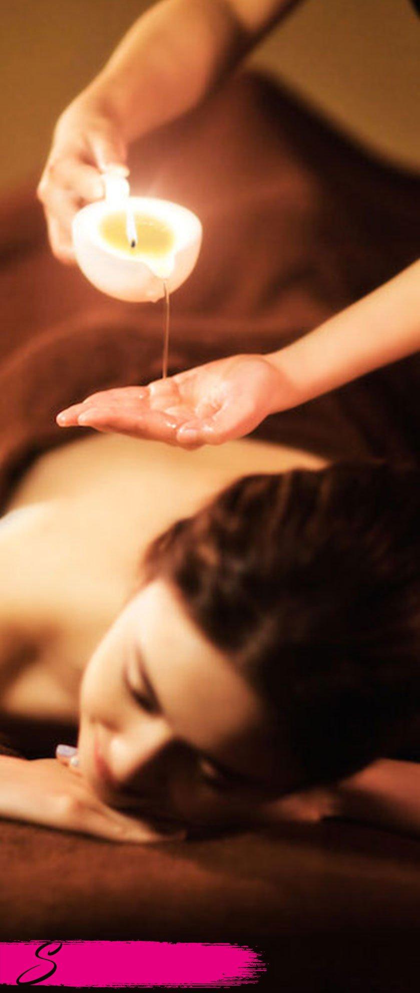 massaggio con candela sensazioni