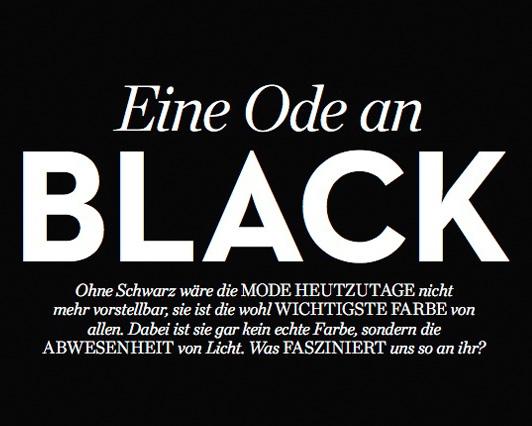 Eine Ode an Black