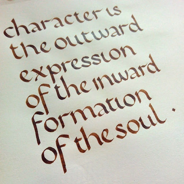 the outward expression