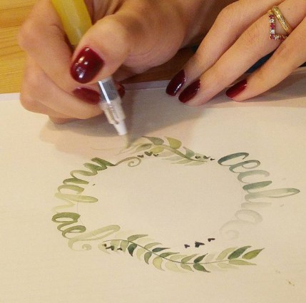 Curso de caligrafía con pincel en Ideas en Polvo