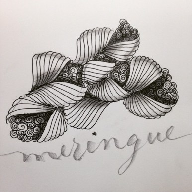 Meringue zentangle caligrafia
