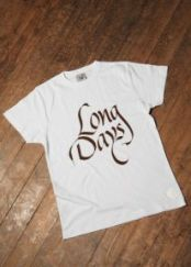 Logo Long Days Long Boards. Camiseta.