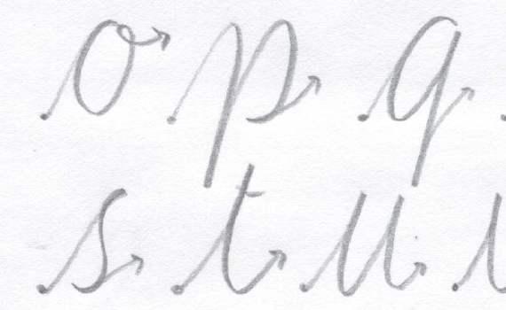 Ductus caligrafico.