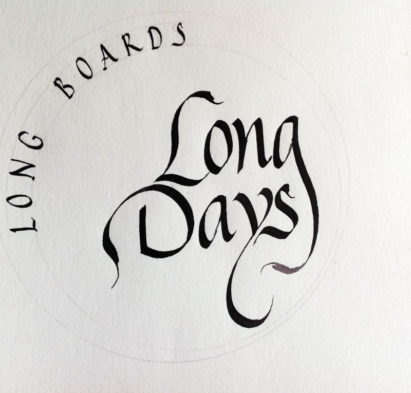 Logo Long Days caligrafiado