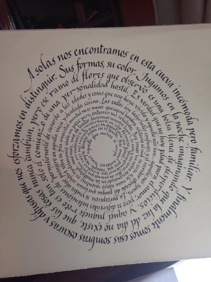 Historias mínimas, pozo caligráfico