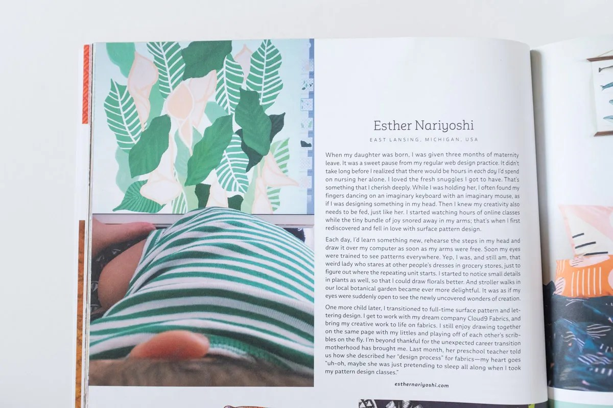 Esther Nariyoshi on Uppercase Magazine