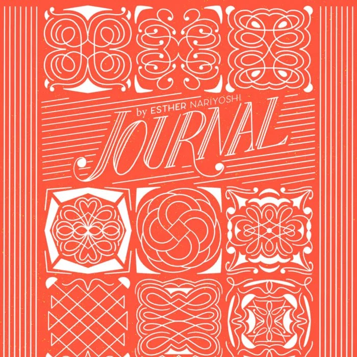 Journal Cover with Folk Art