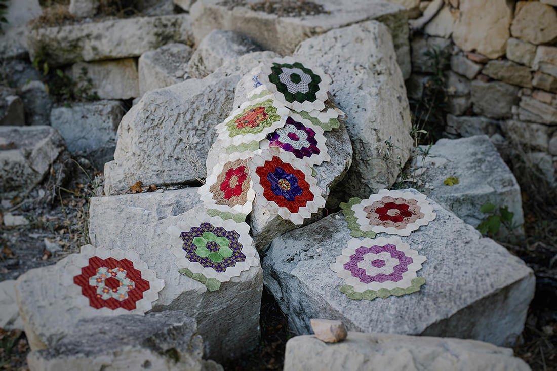 Tecnica de patchwork el jardin de la abuela