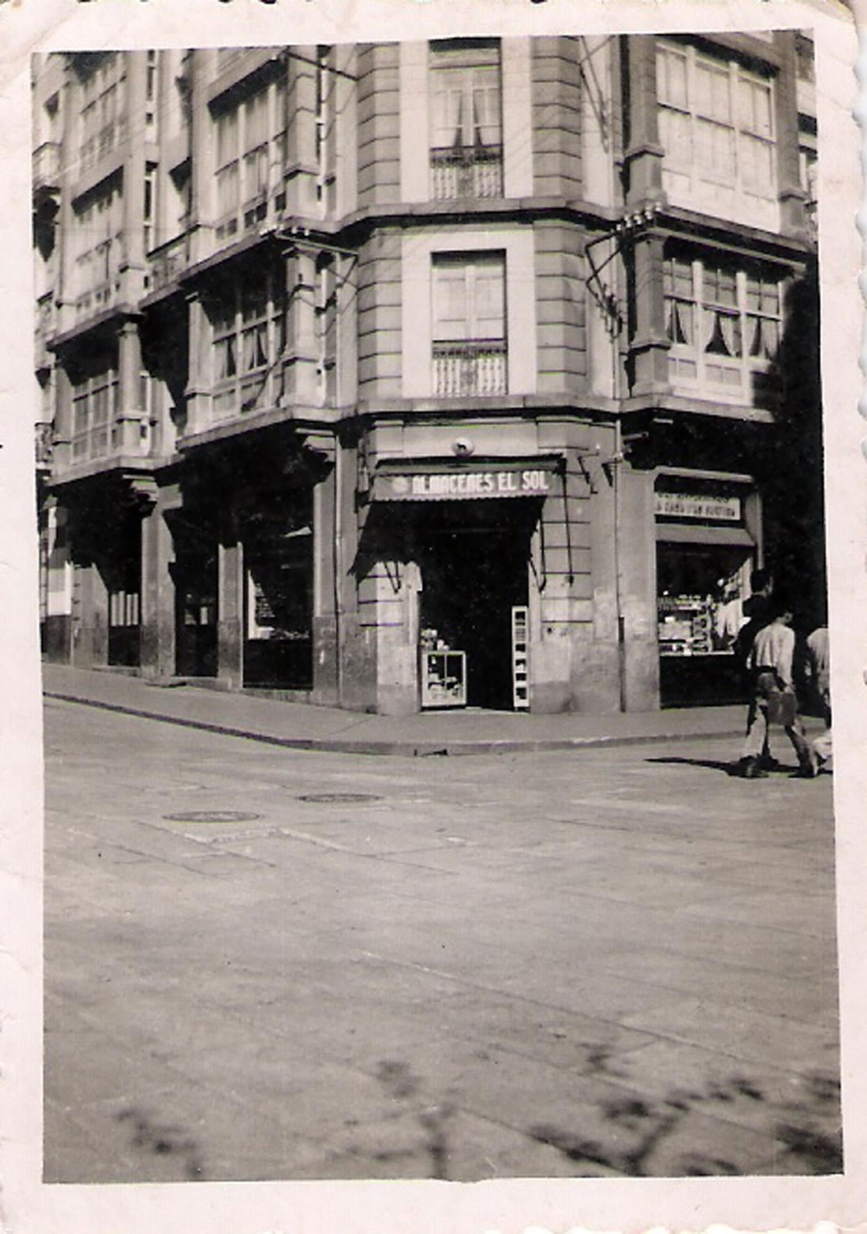 Almacéns El Sol, Praza de Vigo, A Coruña, anos 1940-50