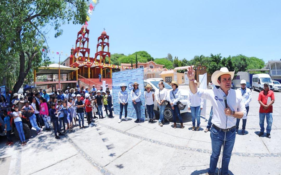 Renovará Navarro al Gobierno local, sube intensidad de su campaña