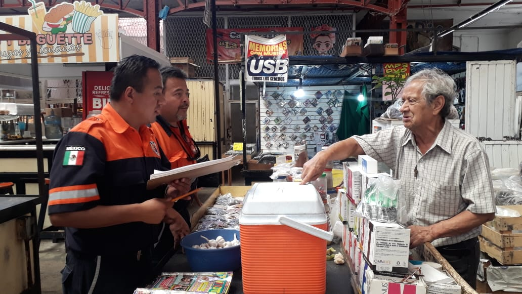 'Escanean' el mercado Hidalgo para evitar siniestros