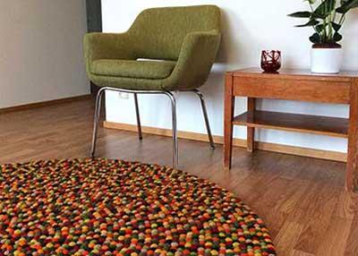custom-felt-ball-rug-round