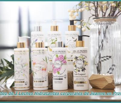 Sorteo de 3 Leches Hidratantes corporales de Jeanne en Provence