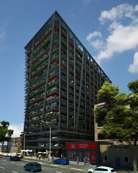 High Rise Apartment - Hallmark House Tower Block High in South Africa by David Adjaye Architect