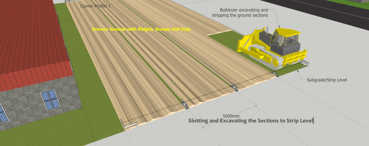 Slotting and Excavating Ground Sections to Subgrade/Strip Level