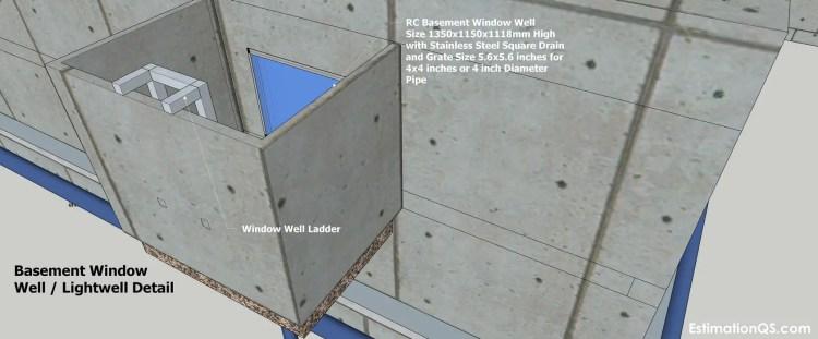Basement Window Well Lightwell Detail_10