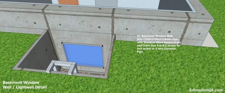 Basement Window Well Lightwell Detail_15