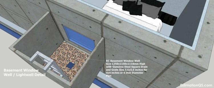 Basement Window Well Lightwell Detail_9