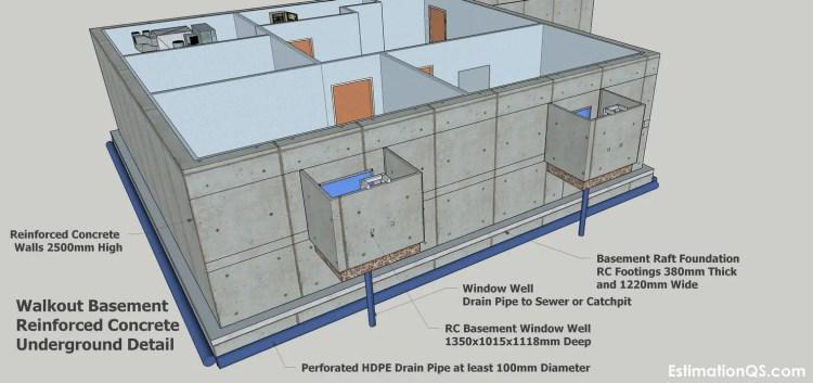 RC Walkout Basement Underground Detail CUT