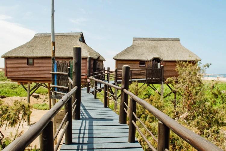 Stilt House Thatched Bungalow Wooden Walkway The Stiltz BNB Swakopmund Namibia