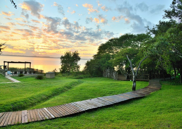 Wooden Boardwalk Nibela Lake Lodge Hluhluwe KZN South Africa