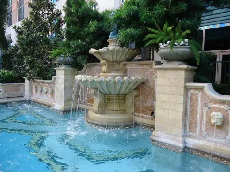 The Venezia Tower Pool Garden, The Venetian Resort, Las Vegas, Nevada, USA