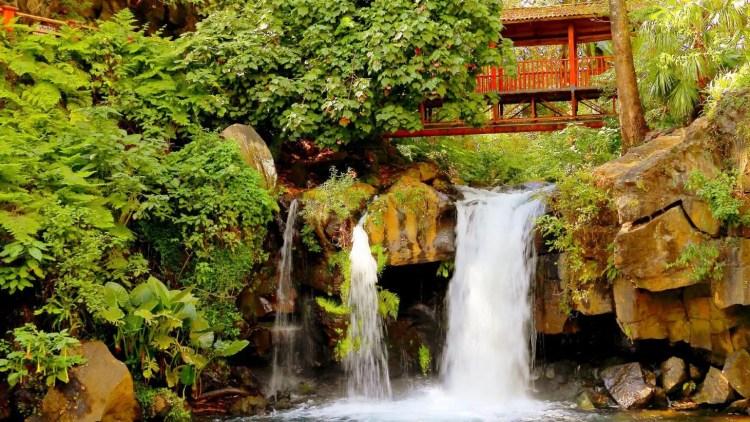 Uruapan, Michoacan, Mexico Waterfall Under Bungalow