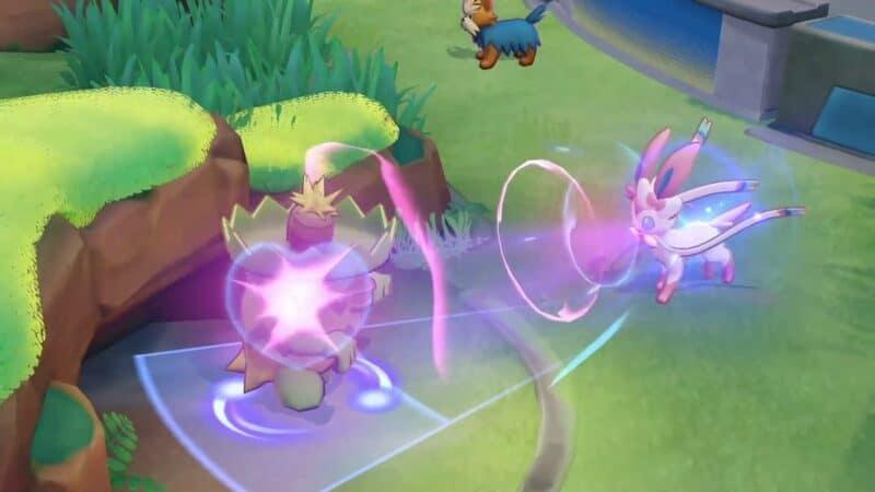 The Pokemon Sylveon farms for Aeos and XP