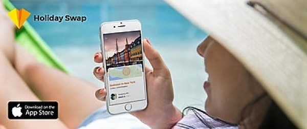 Swap your space with travellers around the world to travel for cheaper. Winner of Best New App Award, Holiday Swap is changing how we travel the world (PRNewsfoto/Holiday Swap)