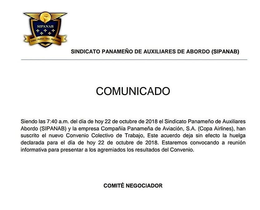 Acuerdo Sindicato Copa