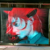 "Los murales 3D ""Blue & red"" de Insane51"