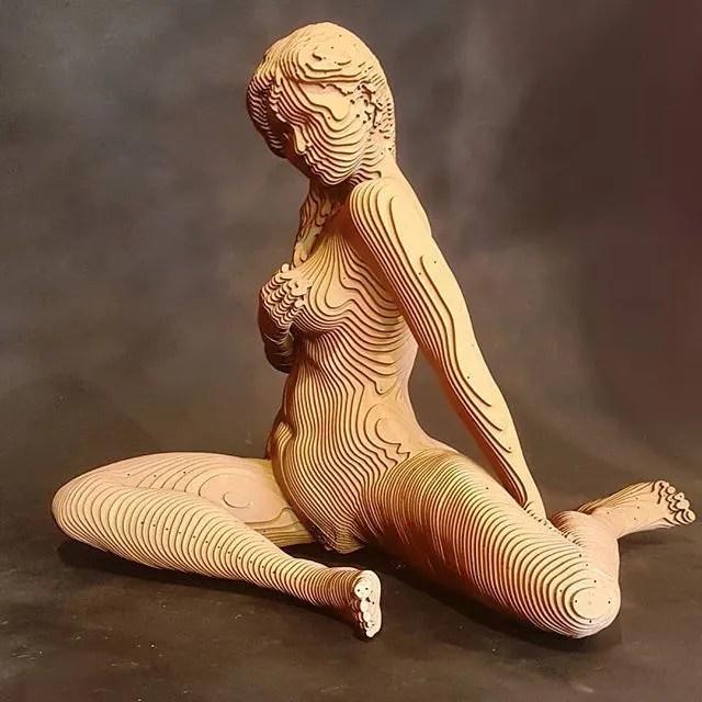 Las esculturas laminadas de Olivier O. Duhamel