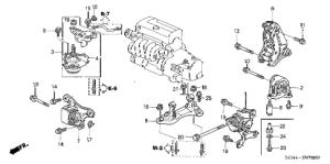 Acura online store : 2002 rsx engine mounts (mt) parts