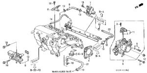 Honda online store : 2000 civic throttle body (vtec) (mt