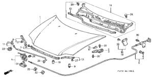 Honda online store : 1997 crv hood parts