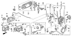 Honda online store : 1998 crv front door locks parts