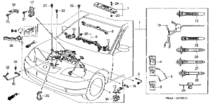 Honda online store : 2002 civic engine wire harness parts
