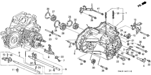 Honda online store : 1992 accord at transmission housing parts