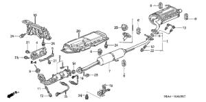 Honda online store : 2005 crv exhaust pipe  muffler parts