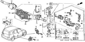 Honda online store : 2005 crv bination switch parts