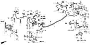 Honda online store : 2003 crv brake lines parts