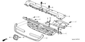 Honda online store : 2004 crv front grille ('04) parts